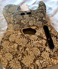Custom Gold Floral Paisley Telecaster® Style Guitar Body fits Tele® + Pickguard
