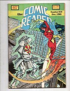 The COMIC READER # 215 December 1983 FANZINE MAGAZINE SPIDER WOMAN GGA COVER