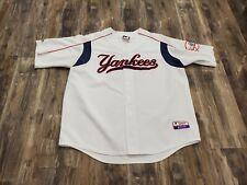 VTG Majestic Authentic Derek Jeter New York Yankees Jersey Red White Blue Sz 3XL