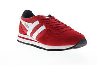 Gola Daytona CMA592 Mens Red Mesh Suede Lace Up Low Top Sneakers Shoes