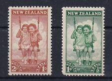 Nuova Zelanda New Zealand 1942 Pro opere per l'infanzia bambini in altalena MNH