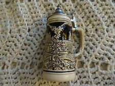 "Vintage Original Handarbeit Gerz West Germany Glazed Lidded Beer Stein-9""H (5)"