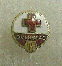 """RARE WWII """"MEN'S SIZE OVERSEAS SERVICE PIN ENAMEL & STERLING 2 PC CONST."""