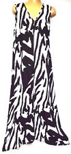 plus sz XS / 14 TS TAKING SHAPE Havana Maxi Dress stretch summer NWT rp$140!