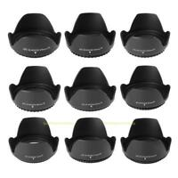 49-82mm Flower Petal Tulip Lens Hood Screw Mount For Canon Nikon Digital Camera