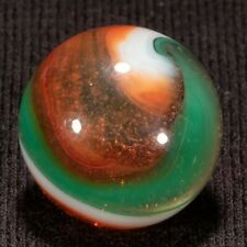 "Akro Agate SPECIAL Corkscrew Vintage Marble, .65"", Mint-, hawkeyespicks"