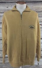 TOMMY BAHAMA Mens 1 /4 Zip Relax Marlin Pullover L Gold Sweater