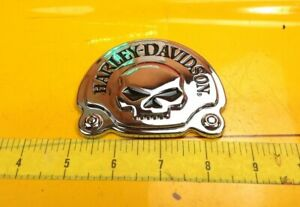 🔥Harley Davidson Willie G Skull Sissy Bar Medallion Tour Pack Emblem Badge🔥
