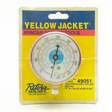 Yellow Jacket 2.5 Inch Pressure Gauge Red Upc 49051 Refrigeration Psi F