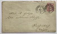 Ganzsache Norddeutscher Bund - ein Groschen - Leipzig 7.12.1870