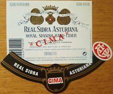 Etiquetas vinos REAL SIDRA  ASTURIANA CIMA  Asturias ESPAÑA  Labels wine