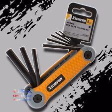 8pc High Quality Folding Hex Key Metric Key Fold-up Steel Allen Wrench Set USA