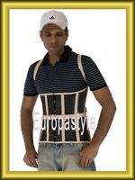 Men Corset,Brown Real Leather,Straps, Steel Bones,Laceup Back,Front Busk,2XS~7XL