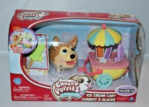 NEW Chubby Puppies & Friends Ice Cream Cart Husky Puppy Dog Moves Toy