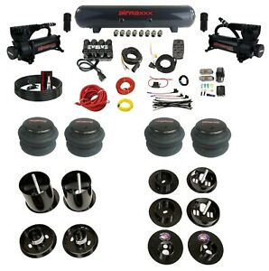 Complete Bolt On Air Ride Suspension Kit Manifold Valve Bags For 65-70 Cadillac
