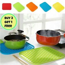 NEW Silicone Trivet Heat Resistant Mat Pan Hot Iron Straightener Holder Colours