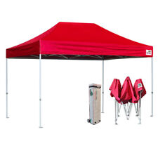 10X15 Red EZ Pop Up Canopy Party Market Trade Show Tent Instant Marquee Gazebo