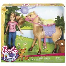 Barbie CAMPING FUN Doll And Horse Stacie Sister Doll NEW IN BOX!