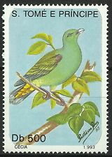 Sao Tome et Principe Oiseaux Colombar Green Pigeon Birds Vogel Taube Aves **1993