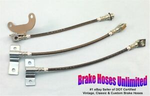 STAINLESS BRAKE HOSE SET Lincoln Mark III, 1971