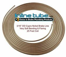 "Copper Nickel Brake Line Tubing Kit 3/16 "" Od 25 Ft Coil Roll Nicopp Cn3 Tube"