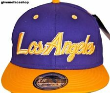 LA snapback caps, purple baseball hip hop urban street Los Angeles dance hats