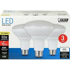 Feit Electric BR30/850/10KLED/3 Non-Dimmable LED Bulb, 65W, 120 VAC, 650 Lumens