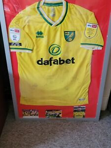 GRANT HANLEY NORWICH CITY MATCHWORN SHIRT 2021 TITLE WINNING GAME WITH PROOF