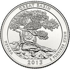2013 P Great Basin Nevada America the Beautiful BU from Quarter US Mint Roll