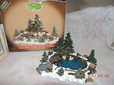 LEMAX  PINE HAVEN POND FOR CHRISTMAS VILLAGE RARE Swans