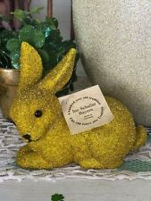 Ino Schaller Bayern Germany Easter Beaded Golden Bunny Rabbit NWT