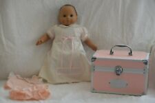 American Girl Bitty Baby African American Doll & Pink Trunk Travel Case Retired