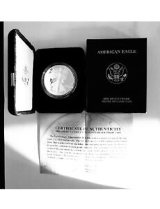 2004 American $1 SILVER PROOF U.S. Mint EAGLE BOX & CERTIFICATE OF AUTHENTICITY