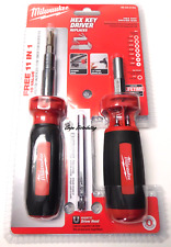 Milwaukee 48-22-2104 Magnetic 10 in 1 & 11 in 1 Hex Key Driver Sae Set