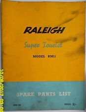 RALEIGH SUPER TOURIST SPARE PARTS LIST MANUAL MODEL RM11 MOPED