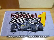 Fahnen Flagge Formel 1 Grau NEU - 90 x 150 cm