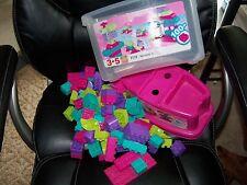 Mega Bloks #7110 Minibloks Tub 105 Pieces Fun Child Building Toy EUC
