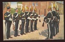 Military 6th DRAGOON GUARDS Relieving Guard Oilette PPC