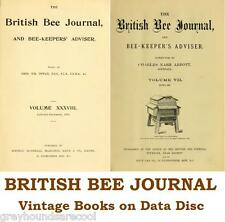 The British Bee Journal and Bee-keepers Adviser 50 Vintage Volumes on Data Disc