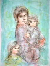Edna Hibel -Miriam & Children - VERY RARE-Hand Signed & Numbered Limited Edition