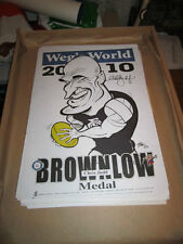 CHRIS JUDD HAND SIGNED LIMITED EDITION 2010 BROWNLOW MEDAL WEG POSTER CARLTON