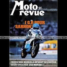 MOTO REVUE N°2317 MORINI 250 OSSA PHANTOM ZUNDAPP K800 MOTOBECANE M7 SARRON '77