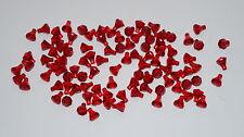 LEGO 100 TRANSLUCENT RED DIAMOND GEMS JEWELS BRICKS -CITY-PIRATES-MOVIE-CASTLE-