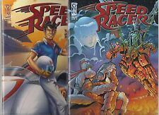SPEED RACER CHRONICLES OF THE RACER #2 SET OF A & B COVERS (NM) IDW COMICS