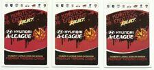 A LEAGUE 2008/09 SELECT CHECKLIST COMMON SET 3 CARDS HYUNDI