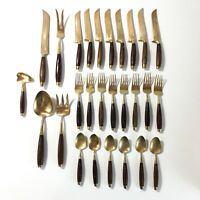 Mid-Century Modern Flatware Set 29 Pieces Service for 8 Retro Kitchen Utensil