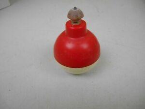Vtg Collectible 1975 Mattel Inc Wiz-z-zer Spinning Top Toy Red & White