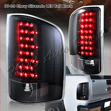 For 2007-2014 Chevy Silverado 1500 2500 3500 LED Black Housing Rear Tail Lights
