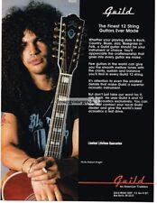 1991 Guild 12-String Acoustic Guitar Slash of Guns N Roses Magazine Ad