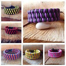 Trillobite Weave Paracord Bracelet Friendship Bracelet Various Colours UK